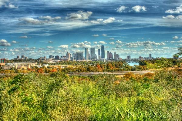 The Austin skyline. (Photo via Flickr user Andrew Nourse)