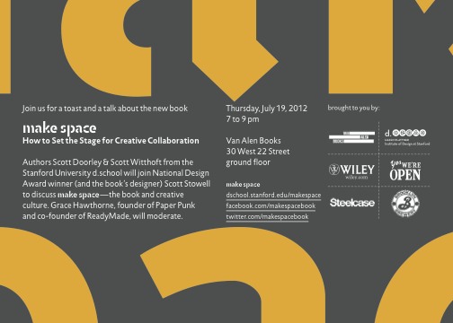 make space in NYC July 19th!