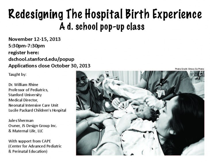 ReDesigning the Hospital Birth Experience