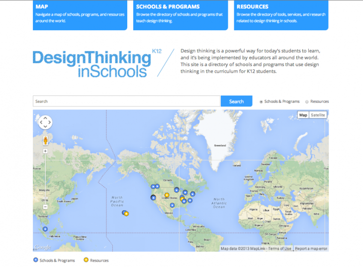 K12 Lab Network launches Design Thinking in Schools Map & Directory